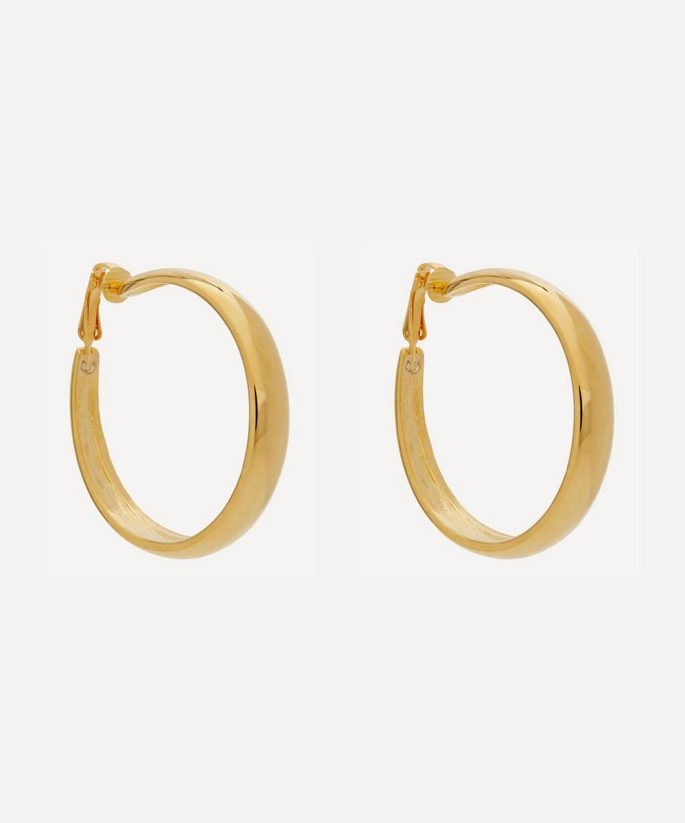 Kenneth Jay Lane - Gold-Plated Tapering Clip-On Hoop Earrings