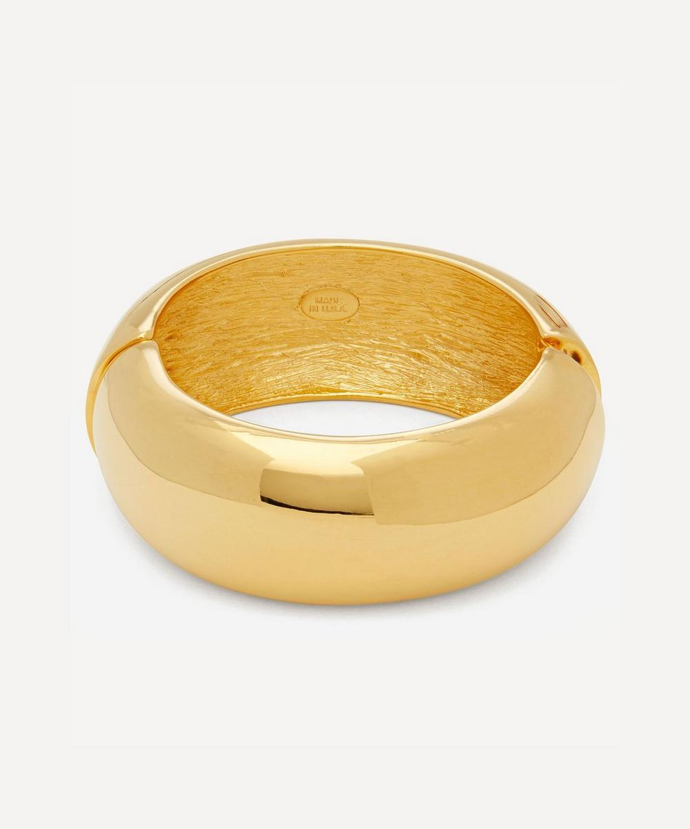 Kenneth Jay Lane - Gold-Plated Wide Domed Bangle