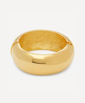 Gold-Plated Wide Domed Bangle