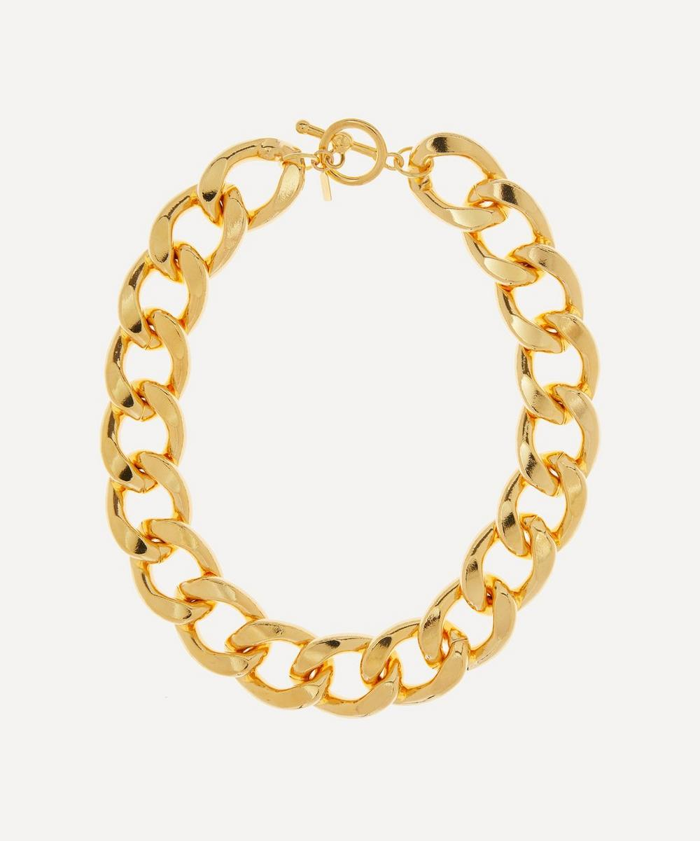Kenneth Jay Lane - Gold-Plated Chunky Curb Chain Necklace