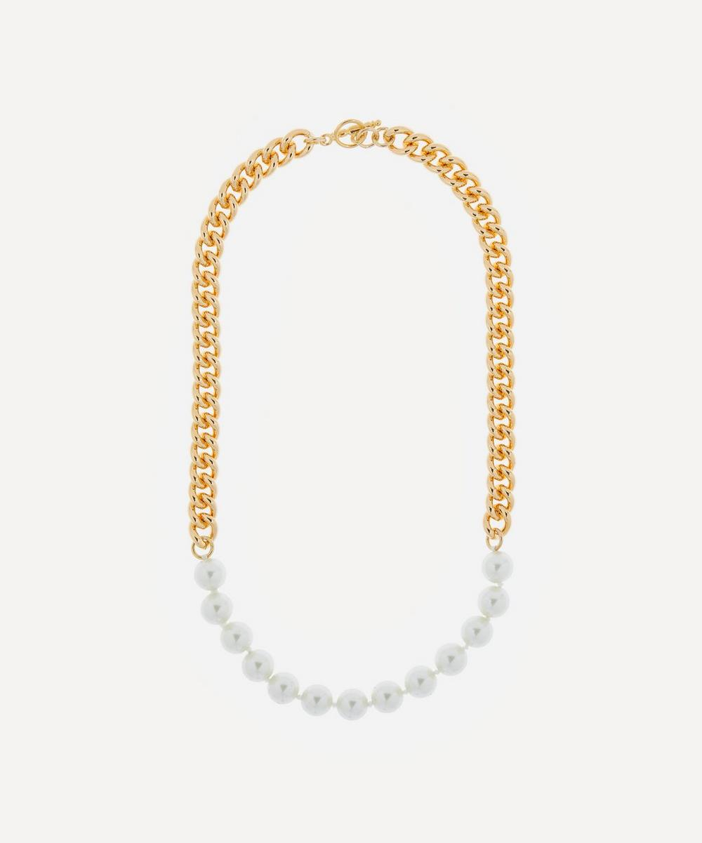 Kenneth Jay Lane - Gold-Plated Faux Pearl Chain Necklace