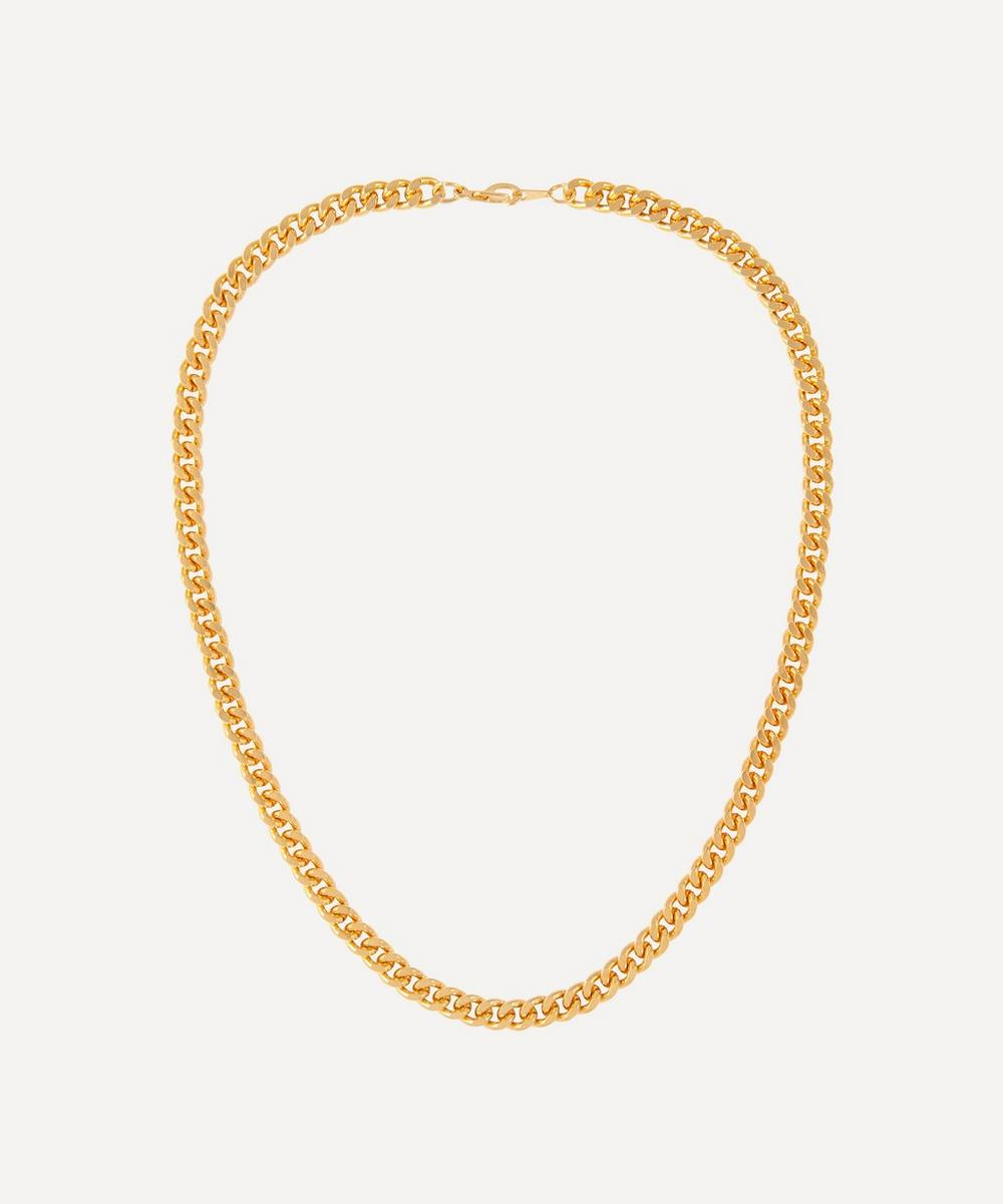 Susan Caplan Vintage - Gold-Plated 1990s Curb Chain Necklace