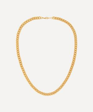 Gold-Plated 1990s Curb Chain Necklace