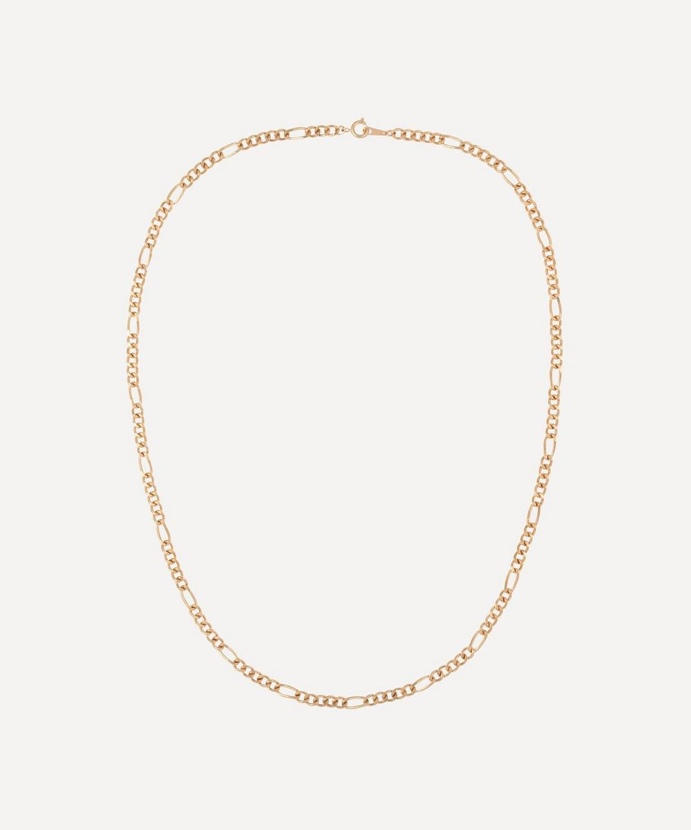 Susan Caplan Vintage - Gold-Plated 1990s Figaro Chain Necklace