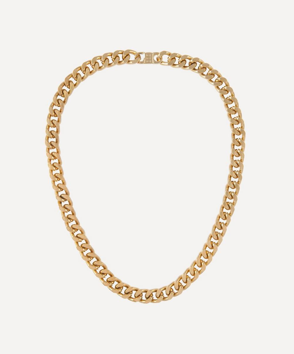 Susan Caplan Vintage - Gold-Plated 2000s Curb Chain Necklace