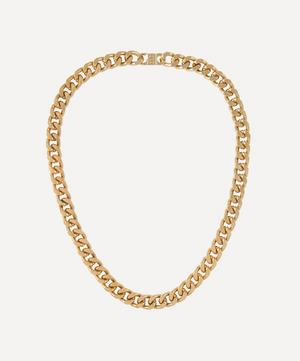 Gold-Plated 2000s Curb Chain Necklace