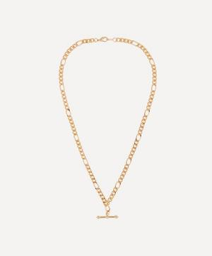 Gold-Plated 1990s Figaro Chain Toggle Necklace