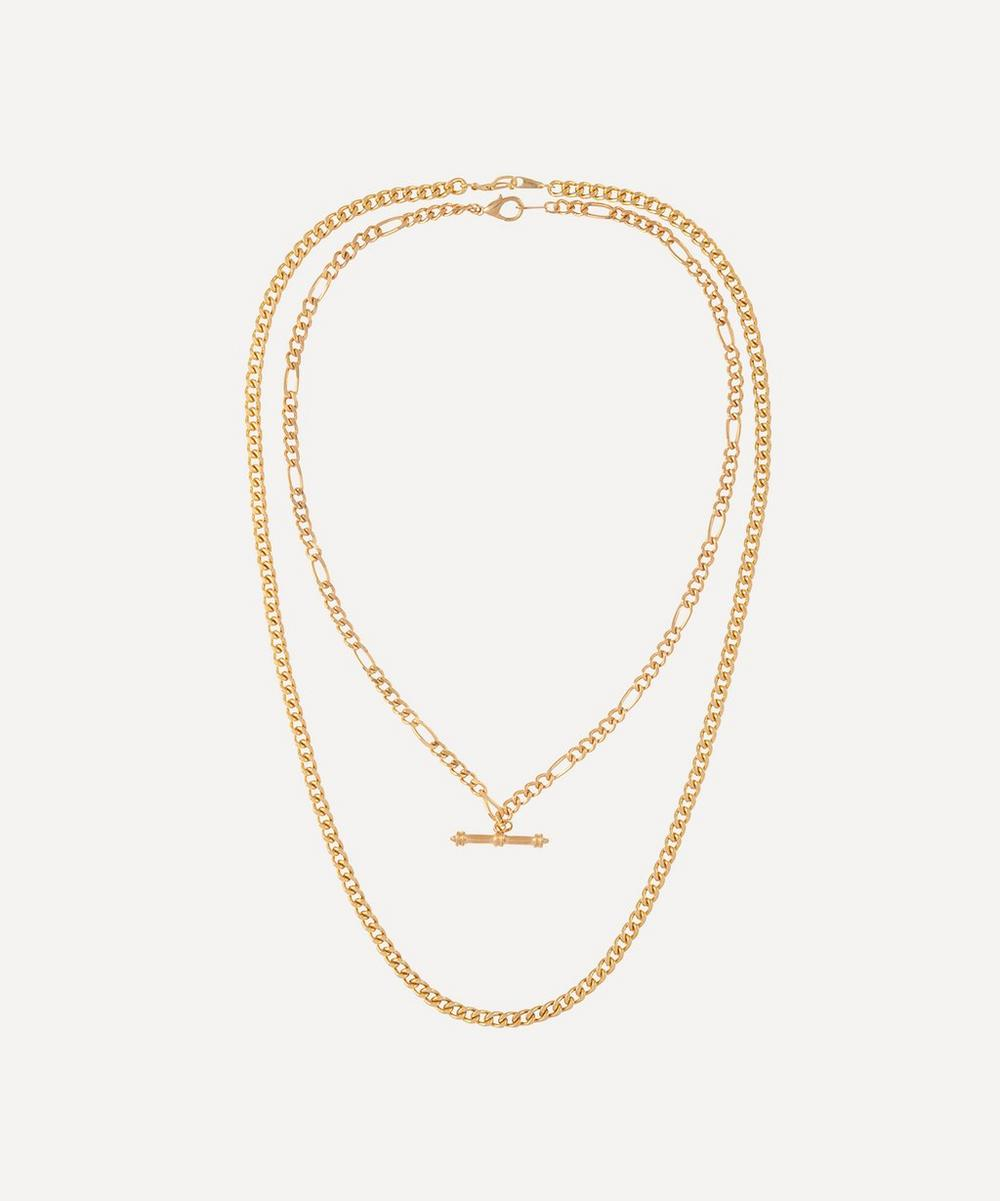 Susan Caplan Vintage - Gold-Plated 1990s Chain Necklaces Set of Two
