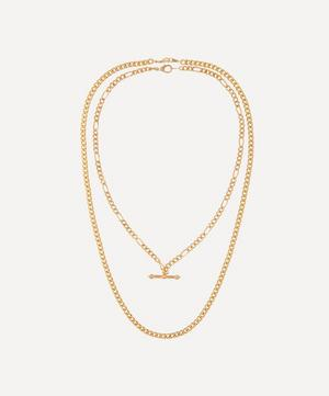 Gold-Plated 1990s Chain Necklaces Set of Two
