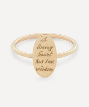 'A Loving Heart' Engraved Gold Disc Ring