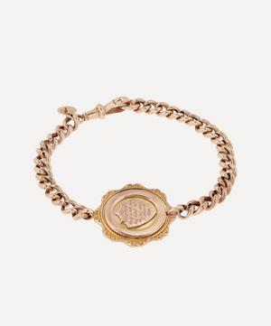 'The Important Thing' Engraved Medallion Gold Bracelet