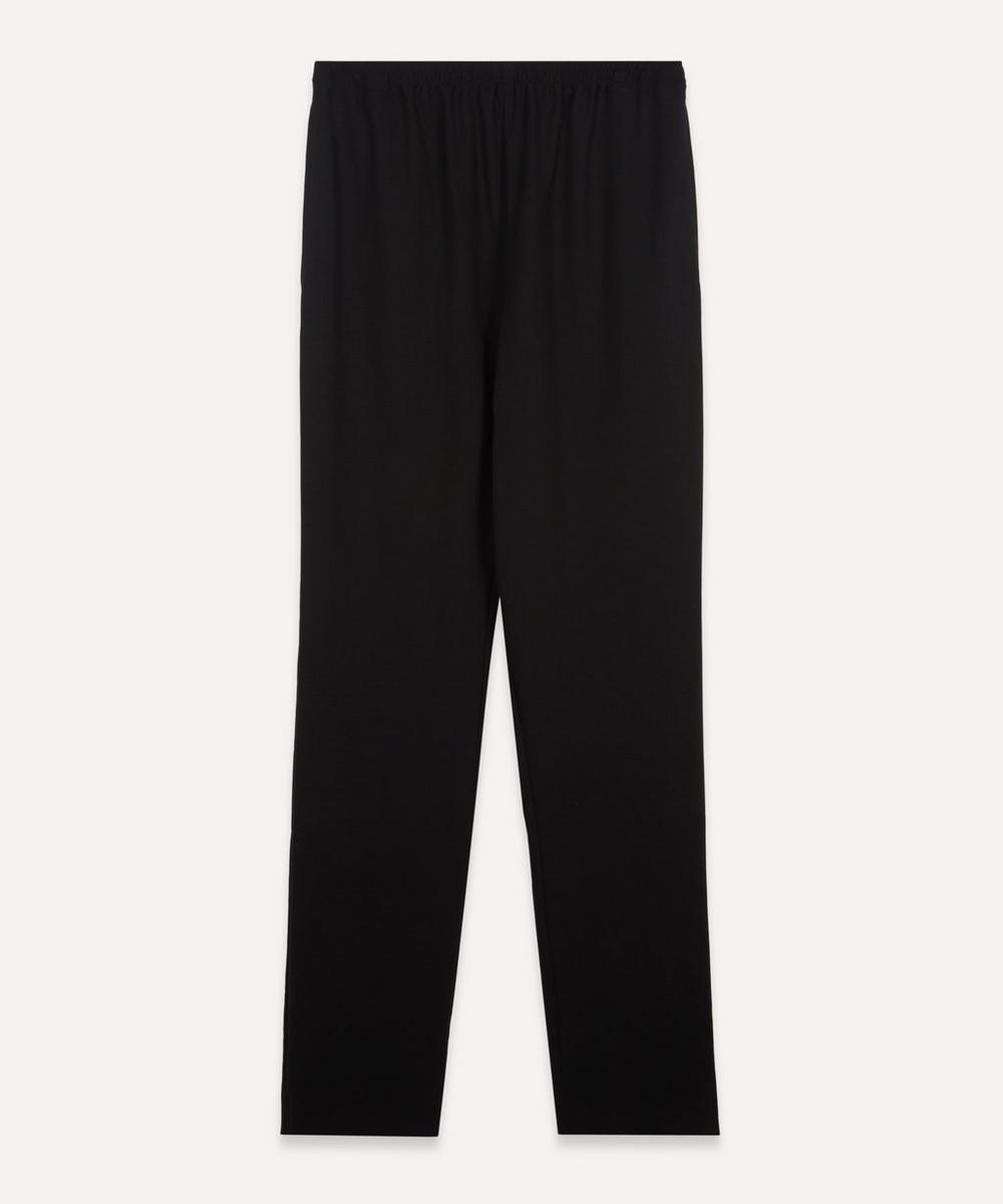 Eskandar - Narrow Stretch-Wool Trousers