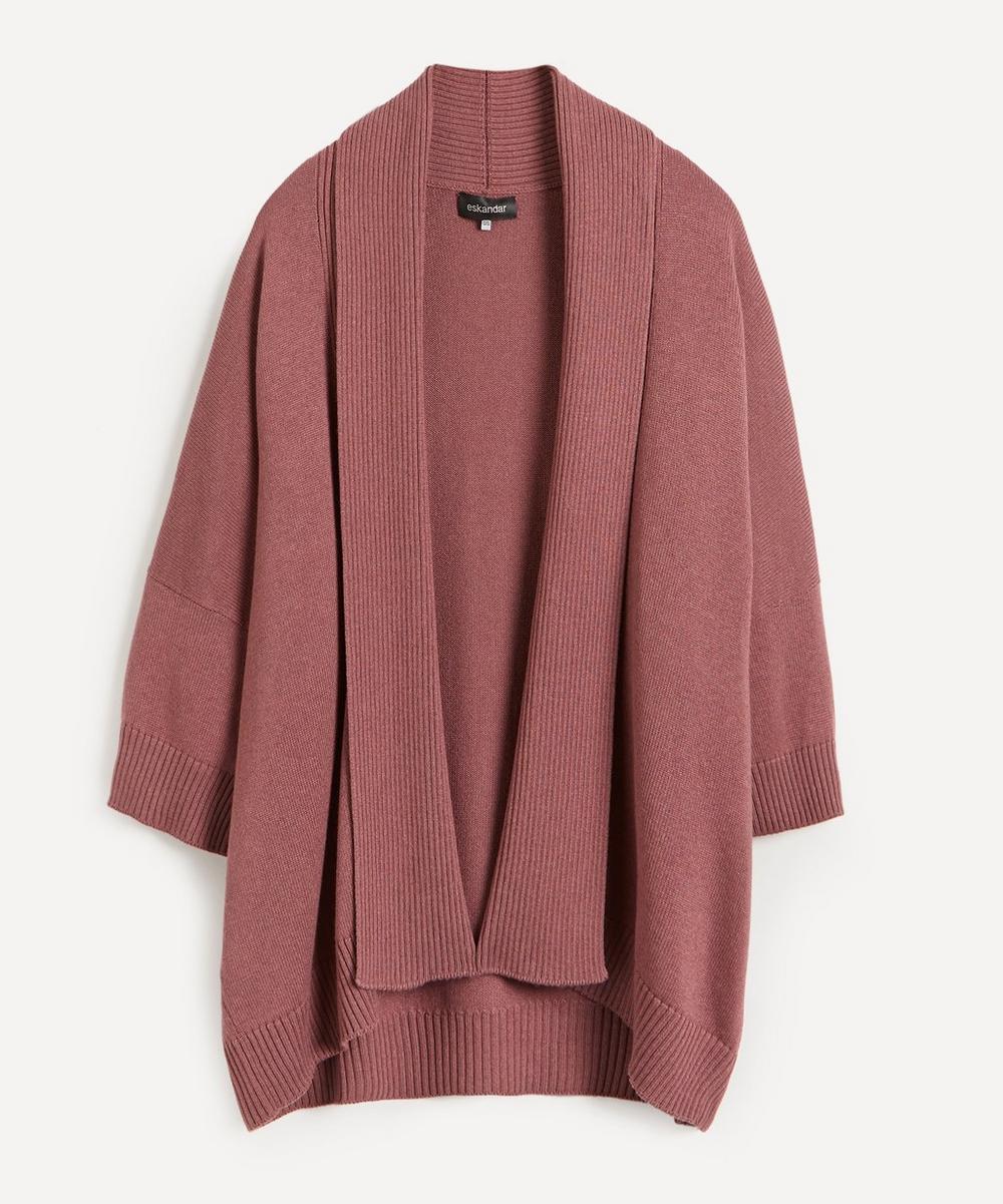 Eskandar - Shawl Collar Drop Shoulder Cardigan