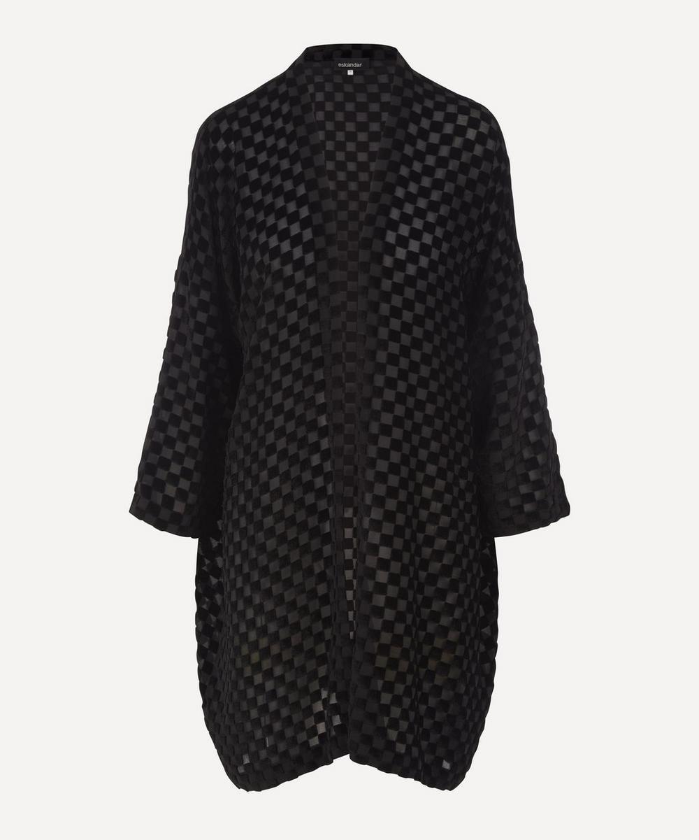 Eskandar - Velvet Long Open Jacket