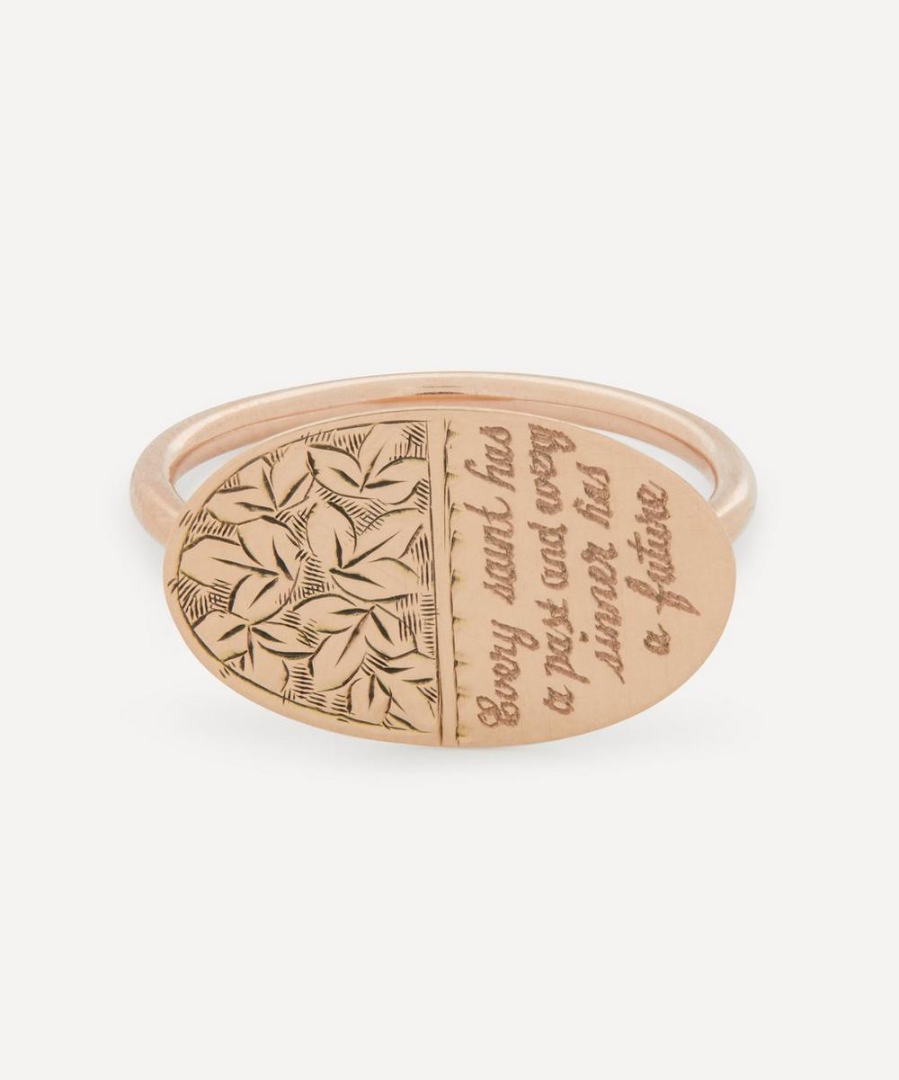 Annina Vogel - Every Saint' Disc 83 Rose Gold Disc Ring