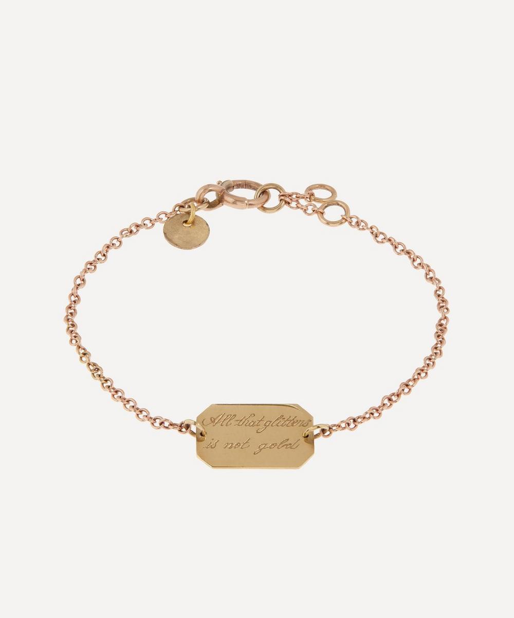 Annina Vogel - All That Glitters' Engraved Disc Rose Gold Bracelet
