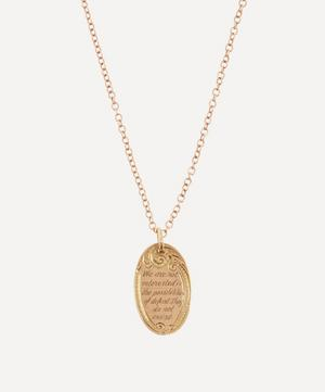We Are Not Interested' Engraved Disc Rose Gold Necklace