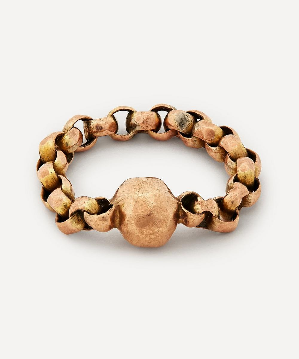 Annina Vogel - Antique Faceted Ball Chain Gold Ring