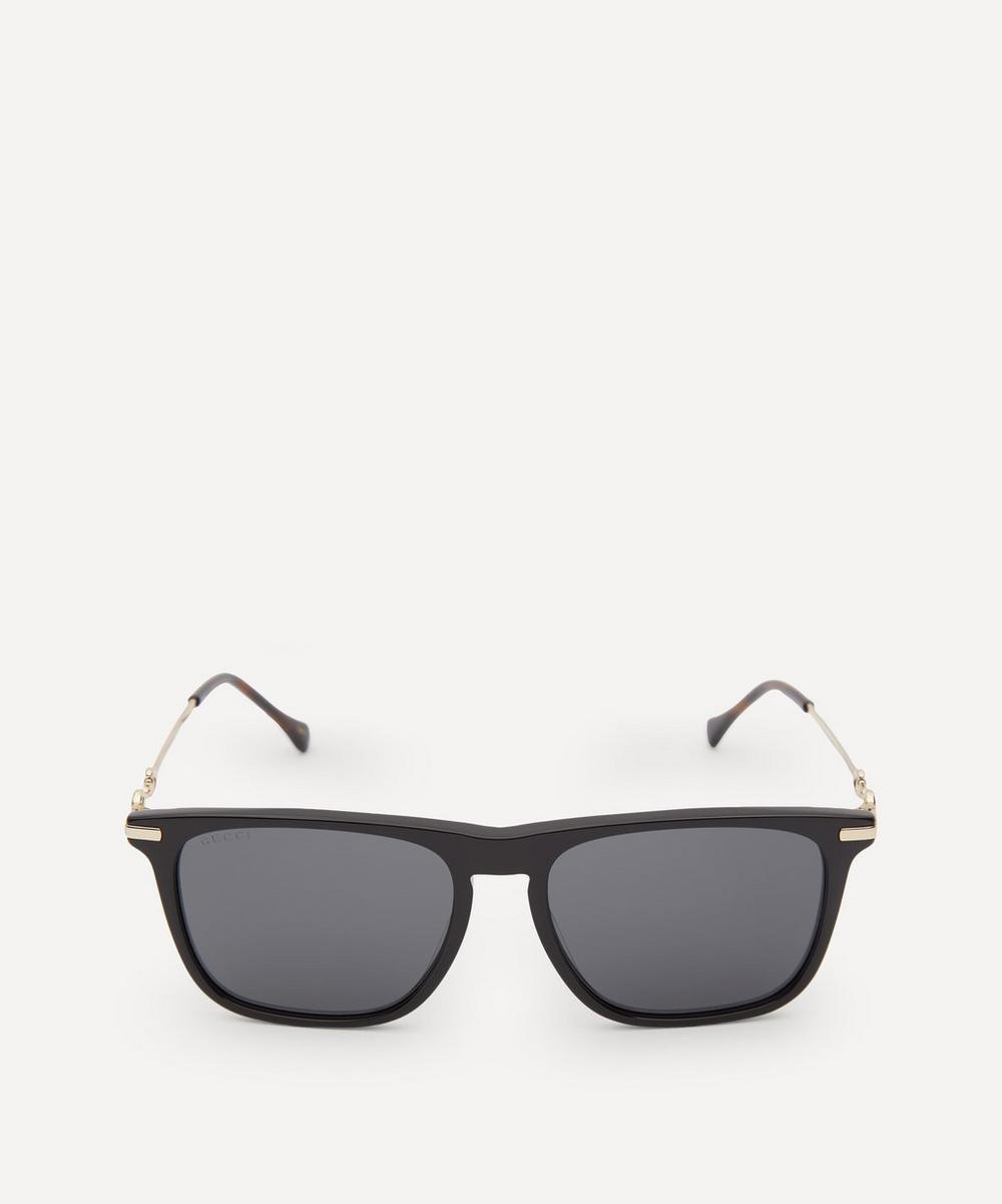 Gucci - Square-Frame Horsebit Sunglasses