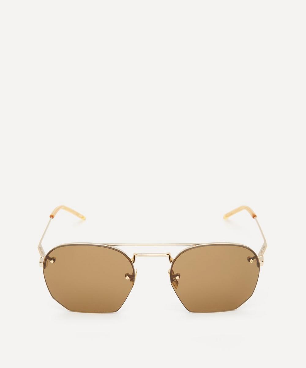 Saint Laurent - Hexagonal Metal Sunglasses