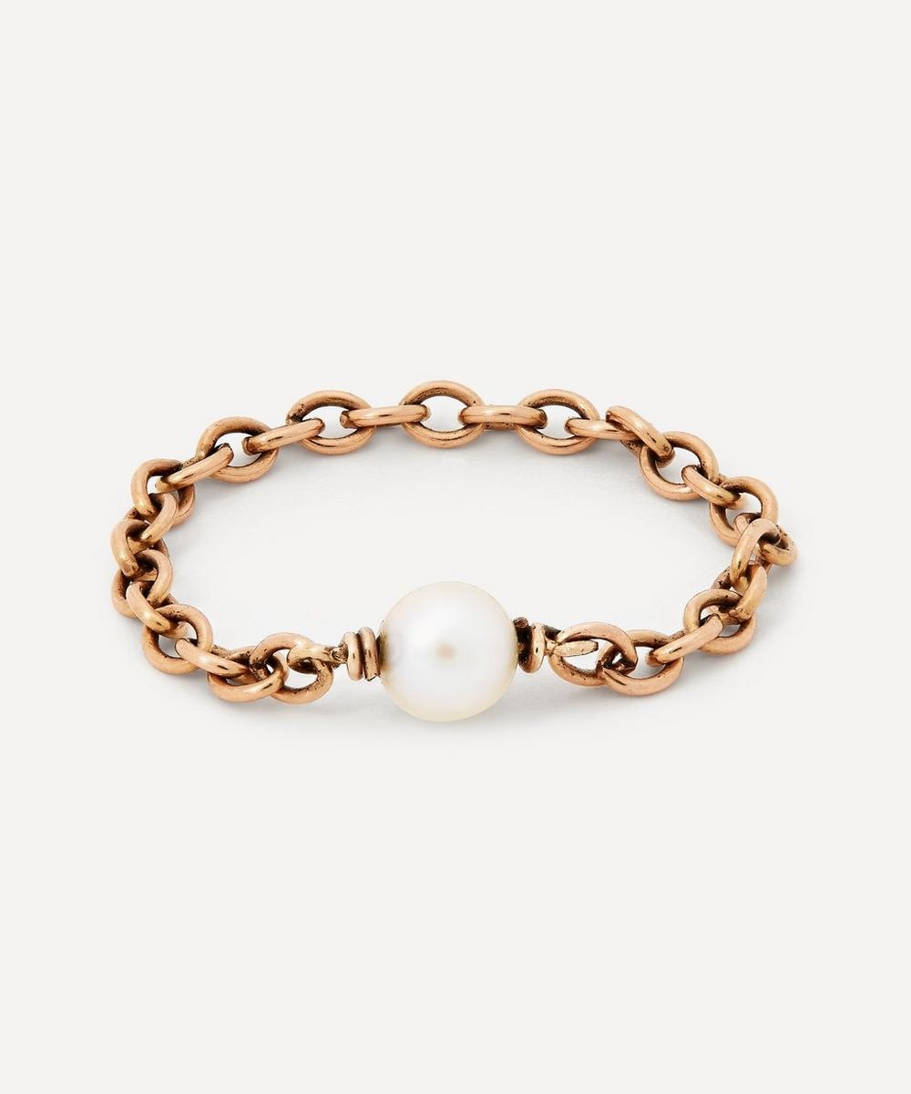 Annina Vogel - Pearl Gold Chain Ring