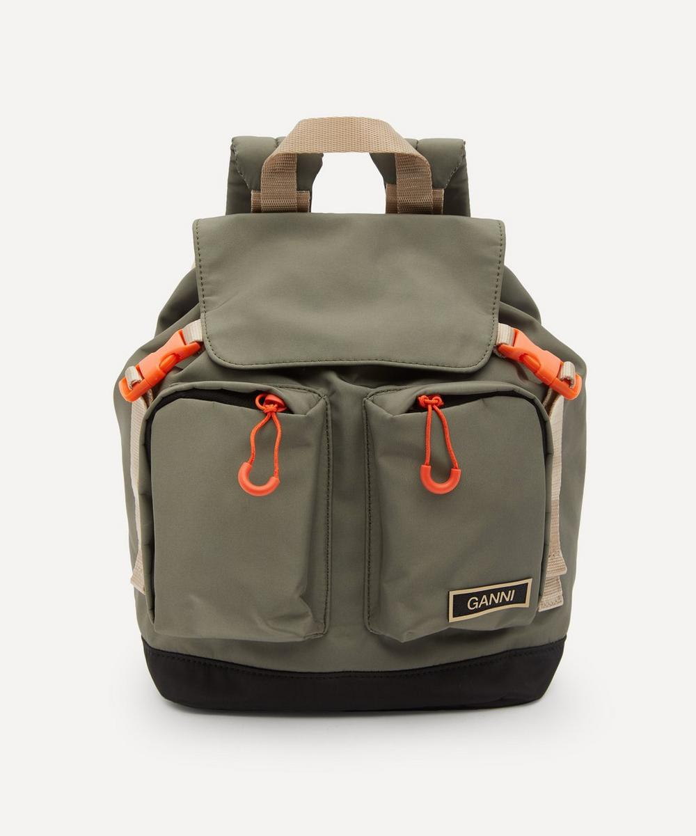 Ganni - Small Recycled Tech Fabric Backpack