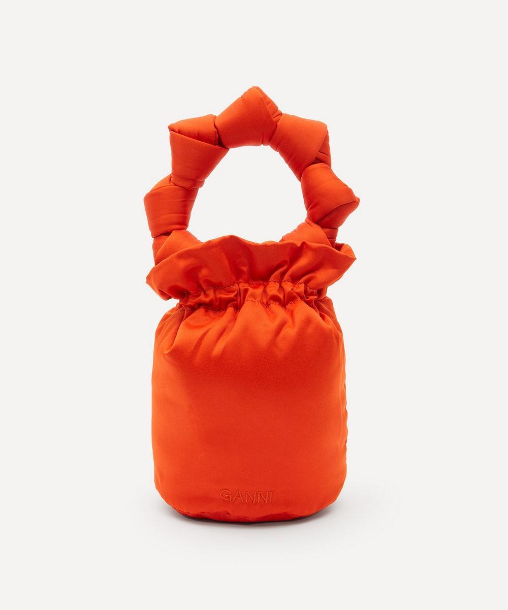 Ganni - Satin Knots Top Handle Pouch Bag