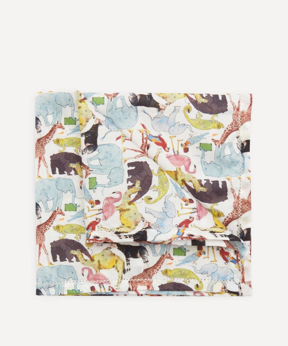 Liberty - Queue For The Zoo Small Cotton Handkerchief