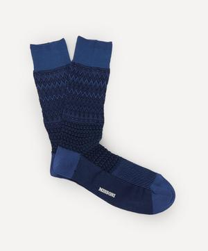 Tonal Zig-Zag Socks