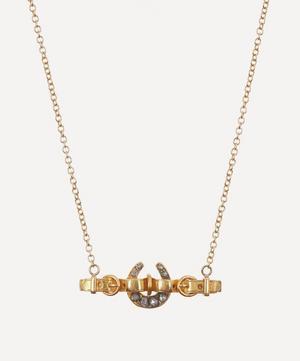 Rose Cut Diamond Horseshoe Belt Victorian Brooch Conversion Gold Necklace