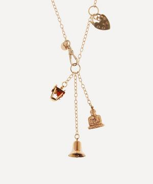 World Traveller Short Signature Gold Necklace