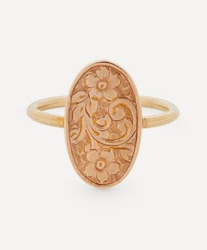 Forget-Me-Not Gold Disc Ring