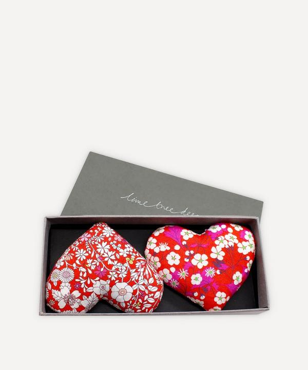 Lime Tree Design - Braveheart Lavender Hearts Box of Two