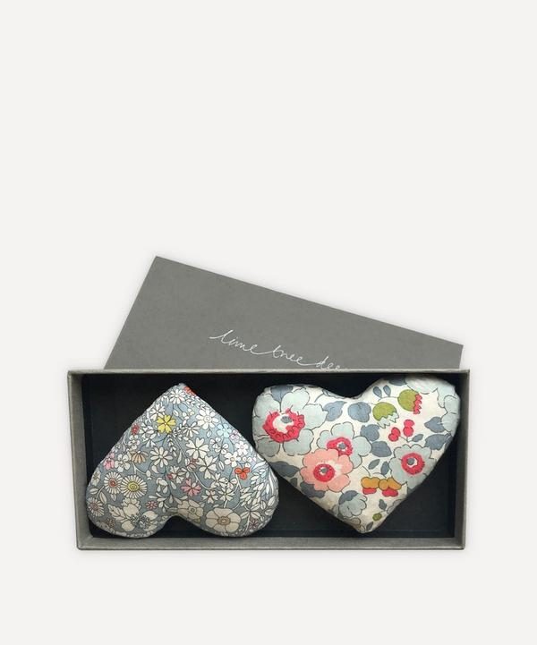 Lime Tree Design - Love Heart Lavender Hearts Box of Two