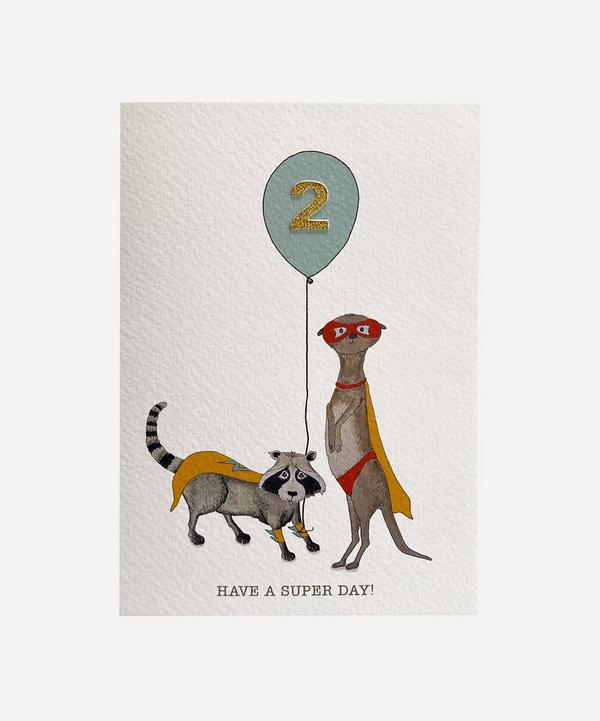 Fearless Flamingo - Racoon and Meerkat Age Two Card