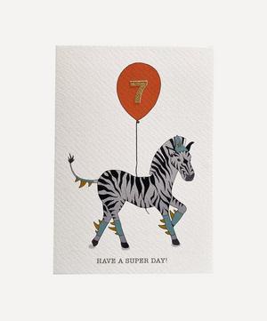 Zebra Age Seven Card