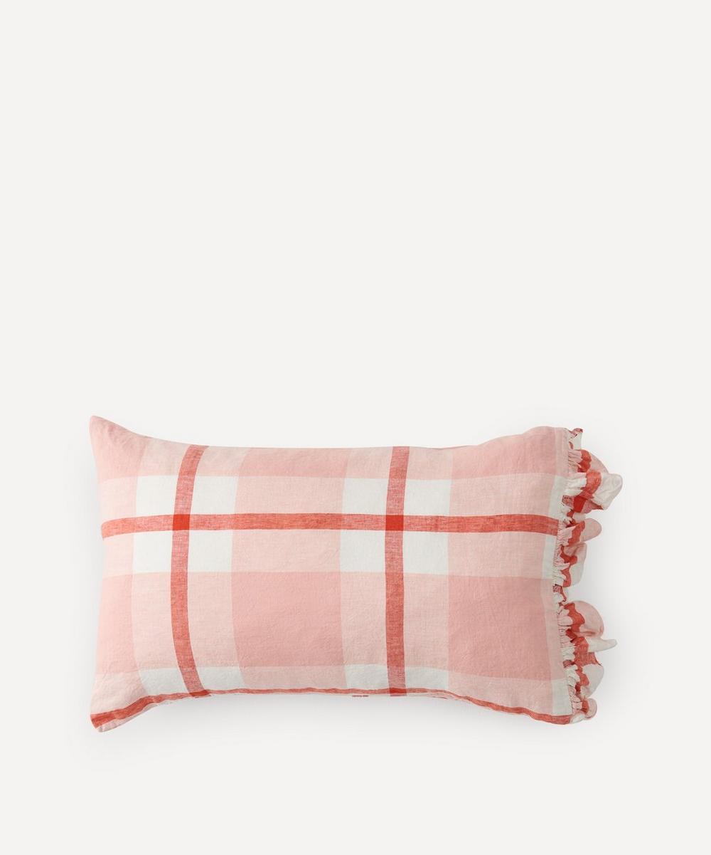 Society of Wanderers - Floss Check Ruffle Pillowcase Set
