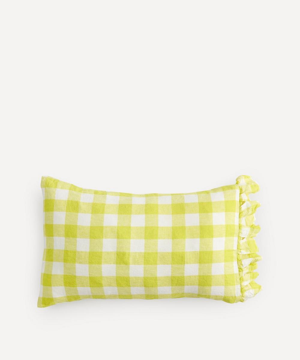 Society of Wanderers - Limoncello Gingham Ruffle Pillowcase Set