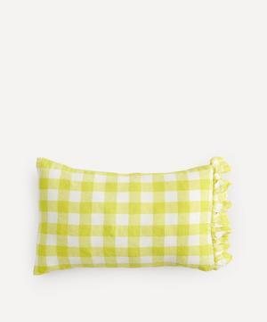 Limoncello Gingham Ruffle Pillowcase Set