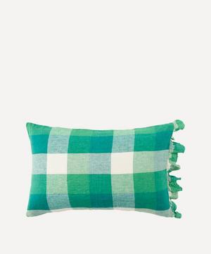 Apple Check Ruffle Pillowcase Set