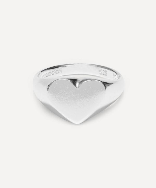 Seb Brown - Silver Heart-Shaped Signet Ring