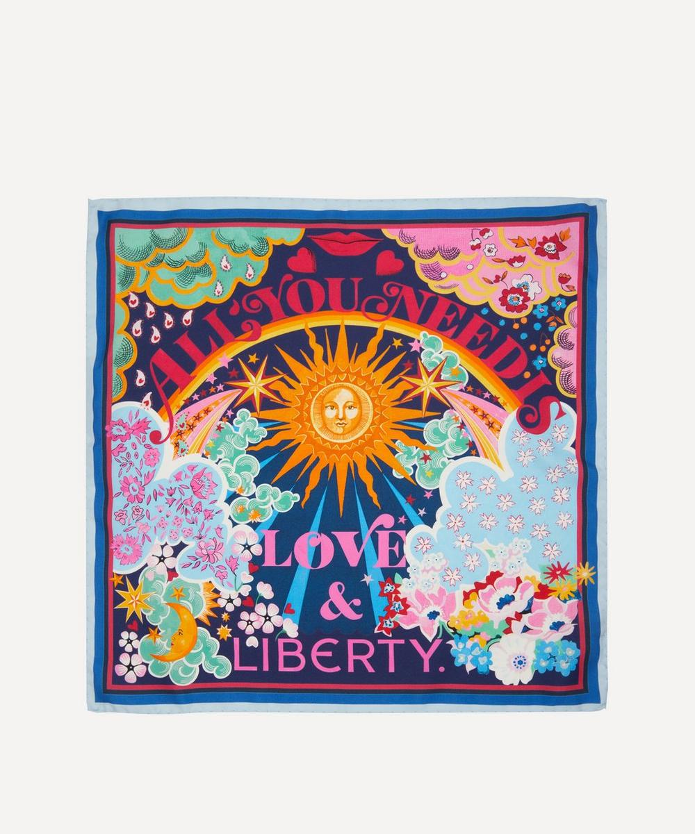 Liberty - All You Need Is Love & Liberty 45 x 45cm Silk Twill Scarf