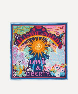 All You Need Is Love & Liberty 45 x 45cm Silk Twill Scarf