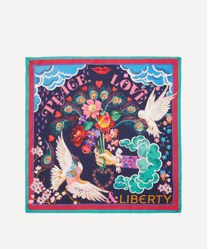 Peace, Love & Liberty 45 x 45cm Silk Twill Scarf