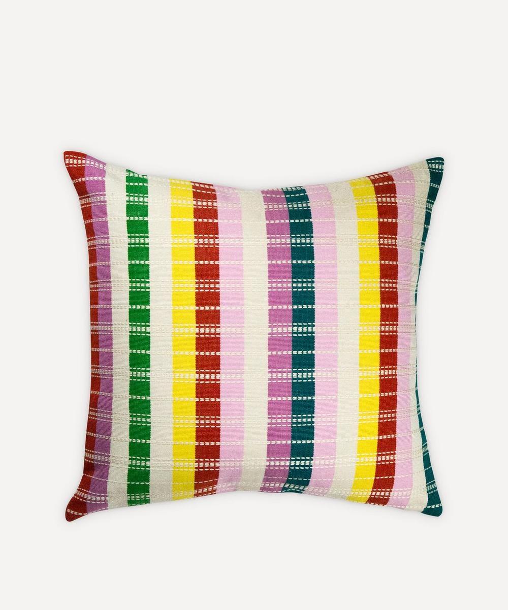 Archive New York - Santiago Rainbow Grid Pillow