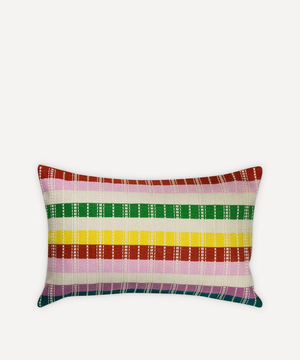 Archive New York - Santiago Rainbow Grid Pillow image number 0