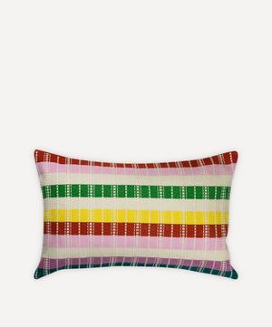 Santiago Rainbow Grid Pillow