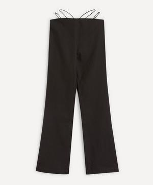 Amber Elastic-Strap Linen-Mix Trousers