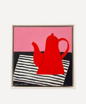 Red Coffee Pot Original Framed Painting