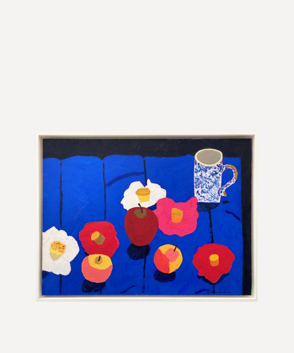 Sophie Harding - Handmade Cup and Camellias Original Framed Painting